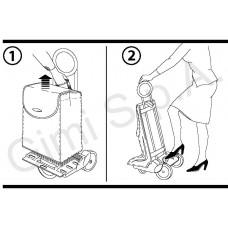 Сумка-тележка Gimi Ideal Step Grey