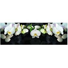 Экран под ванну 3D 1.5 м Орхидея на черном