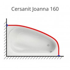 Карниз для ванны Cersanit Joanna 160х95