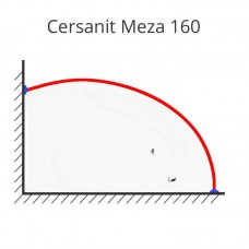 Карниз для ванны Cersanit Meza 160х100 нержавеющая сталь