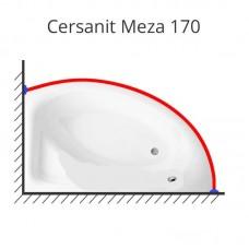 Карниз для ванны Cersanit Meza 170х100 нержавеющая сталь