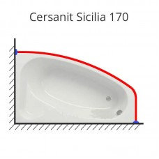 Карниз для ванны Cersanit Sicilia 170х100