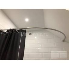 Карниз для ванны Дуга 150х100 нержавеющая сталь