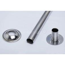 Карниз для ванны Г образный 130х70 нержавеющая сталь