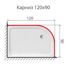 Карниз для поддона полукруглый 120х90 нержавеющая сталь