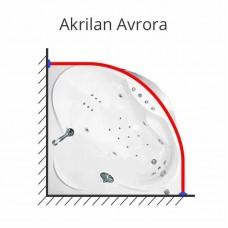 Карниз для ванны Akrilan Avrora 150х150