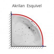 Карниз для ванны Akrilan Esquivel 170х170