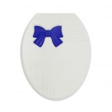 Сиденье для унитаза Zalel Бантик бело-синее (жесткое)