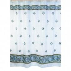 Шторка для ванной Zalel, полиестер 180*200 (арт. 009/1 Blue)
