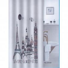 """Шторка для ванной """"Zalel"""" фотопринт 180*200 (арт. DX-021)"""