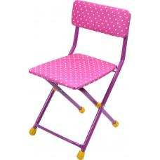 Детский стул, мягкий (арт. СТУ3) Горошек розовый