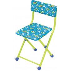 Детский стул, мягкий (арт. СТУ3) Совята на синем фоне
