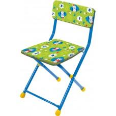 Детский стул, мягкий (арт. СТУ3) Совята на зеленом фоне