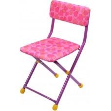 Детский стул, мягкий (арт.  СТУ3) Сердечки розовый