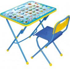 Комплект детской мебели Ника Азбука (арт. КПУ1/9) пластиковое сиденье