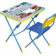 Комплект детской мебели Ника Большие гонки (арт. КПУ1/15) пластиковое сиденье