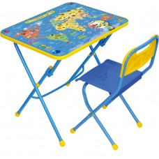 Комплект детской мебели Ника Познаю мир (арт. КПУ1/10) пластиковое сиденье