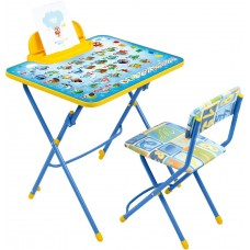 Комплект детской мебели Ника Азбука (арт. КУ3/9) мягкое сиденье