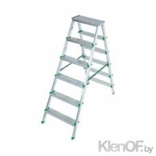 Двухсторонняя алюминиевая лестница Sarayli (7+7)