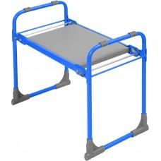 Скамейка садовая с мягким сиденьем складная Ника СКМ (голубая)