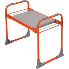 Скамейка садовая с мягким сиденьем складная Ника СКМ (оранжевая)