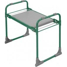 Скамейка садовая с мягким сиденьем складная Ника СКМ (зеленая)