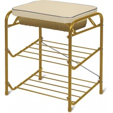 Банкетка для обуви с мягким сиденьем и ящиком (арт. БП1/З) золото