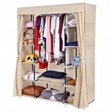 Шкаф для одежды из ткани (арт. YQF-28135) бежевый