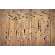 Вешалка для одежды 5 крючков с полкой
