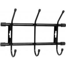 Вешалка настенная на 3 крючка Ника ВН3 цвет: черный