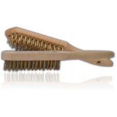 Щетка по металлу 3-х рядная с деревянной ручкой (A01-037)
