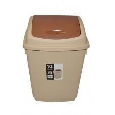 Ведро для мусора 10 литров с плавающей крышкой (6785)