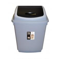 Ведро для мусора 15 литров с плавающей крышкой (6128)